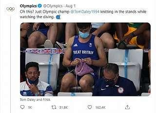 Atlet Loncat Indah Viral karena Asyik Merajut di Olimpiade Tokyo, Ini Alasannya