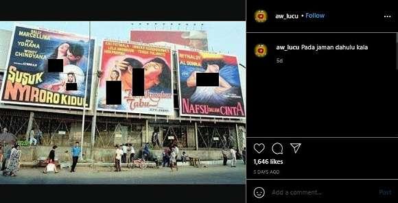 Viral Potret Jadul Bioskop, Netizen Soroti Banner Film Dewasa Ini